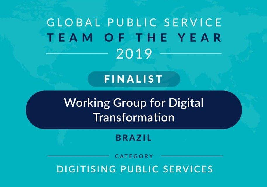 GT de Transformação Digital é finalista em premiação internacional; saiba como votar